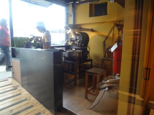 Coffee roasting in Peru